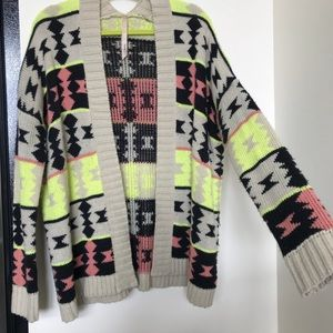 Spare Sweaters - Fun native printed sweater. Size small/medium.